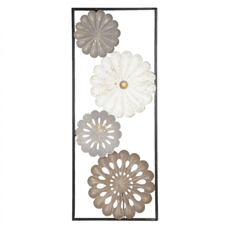 Wanddekoration Blumen 25x61x3 cm