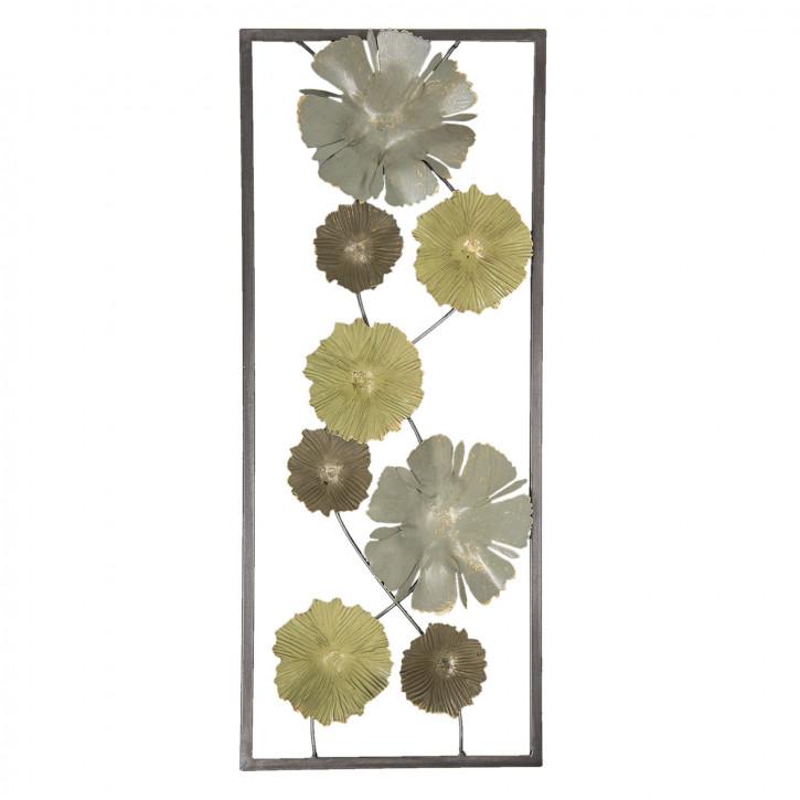Wanddekoration Blumen 25x61x5 cm
