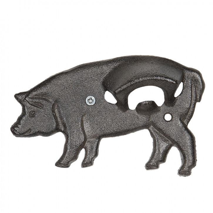Flaschenöffner Schwein 16x3x9 cm