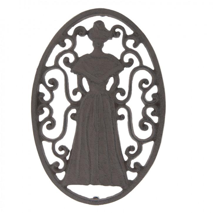 Pfannenuntersetzer Frau 26x18x2 cm