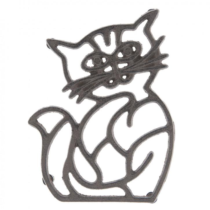 Pfannenuntersetzer Katze 14x19x2 cm