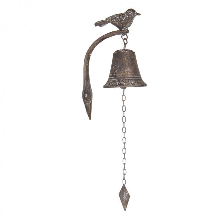 Bell with bird 10x15x25 cm