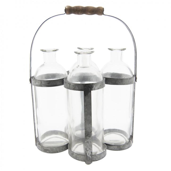 Flaschenhalter mit» 21x15x29 cm