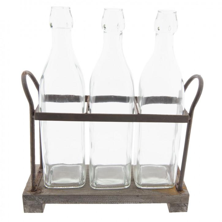 Flaschenhalter mit» 30x10x35 cm