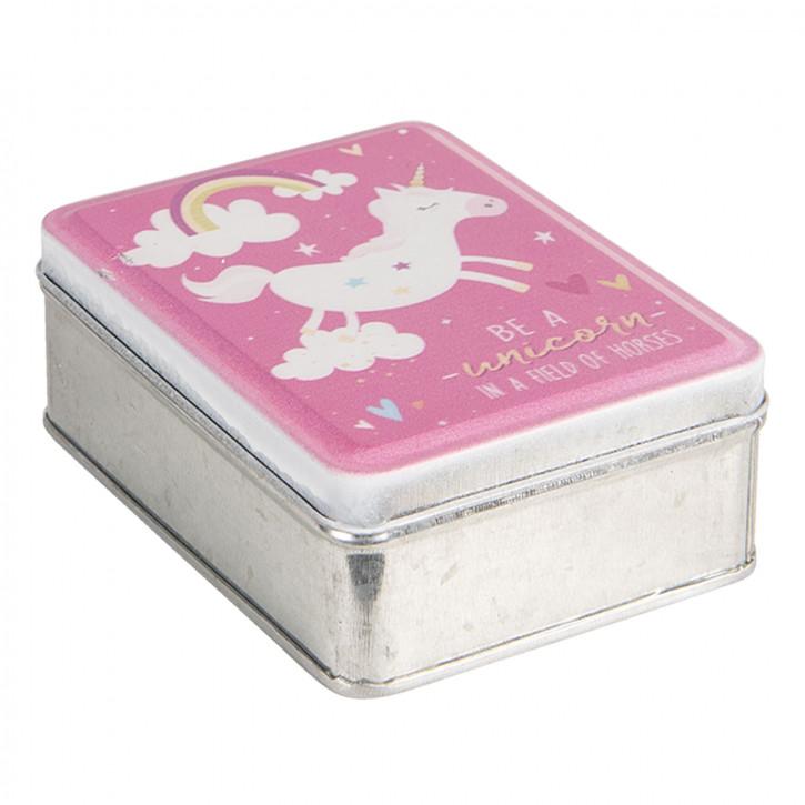 Schachtel aus Metall 10x8x4 cm