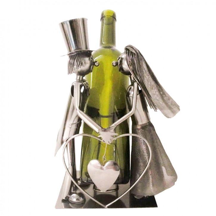Flaschenhalter Brautpaar 19x13x26 cm