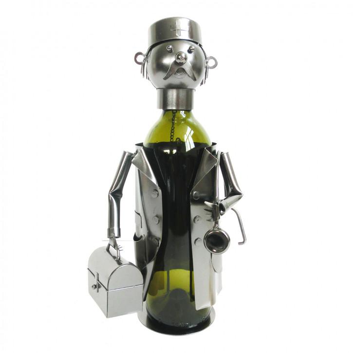 Flaschenhalter Arzt 17x13x20 cm