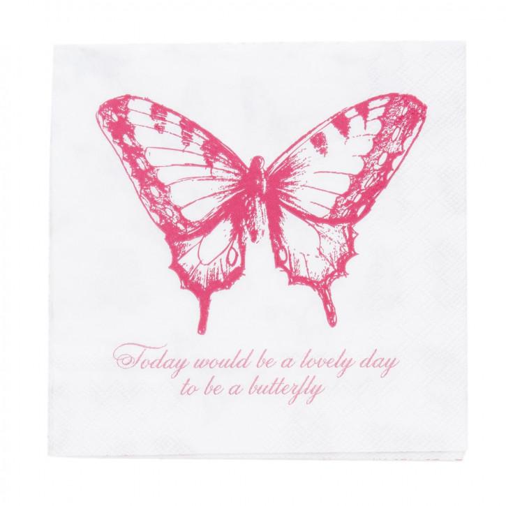 Servietten Schmetterling (20) ca. 33 x 33 cm