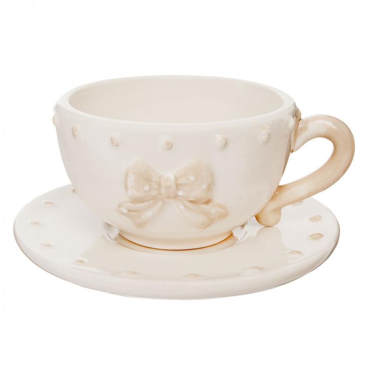 Kaffeetasse mit Untertasse  Ø 11x5 cm