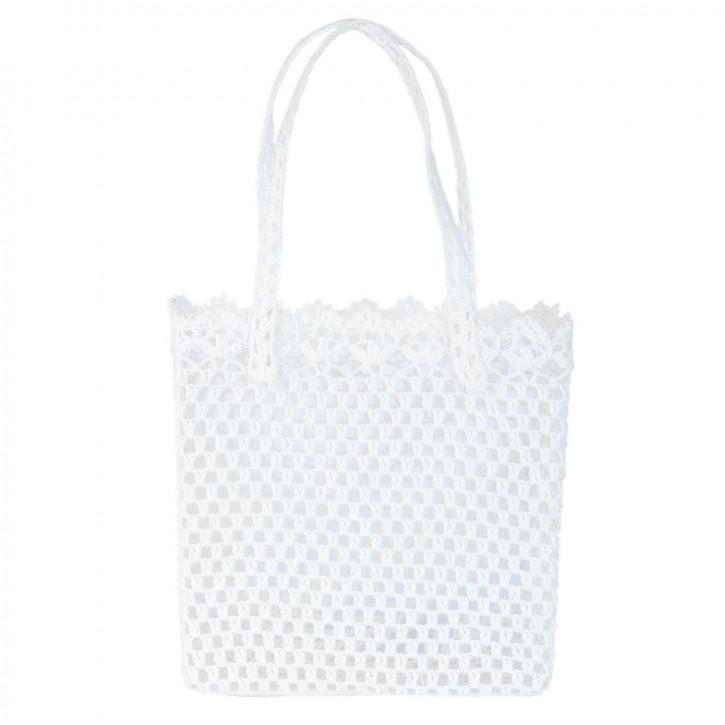 Stofftasche weiß ca. 30 x 14 x 30 cm