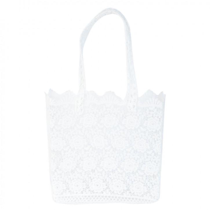 Stofftasche weiß ca. 31 x 13 x 29 cm