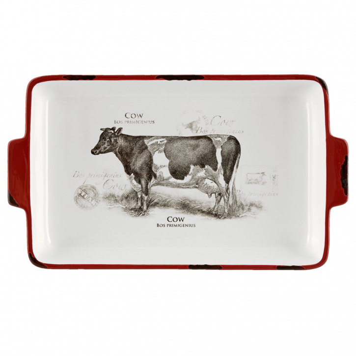 Teller Cow 31x18x4 cm