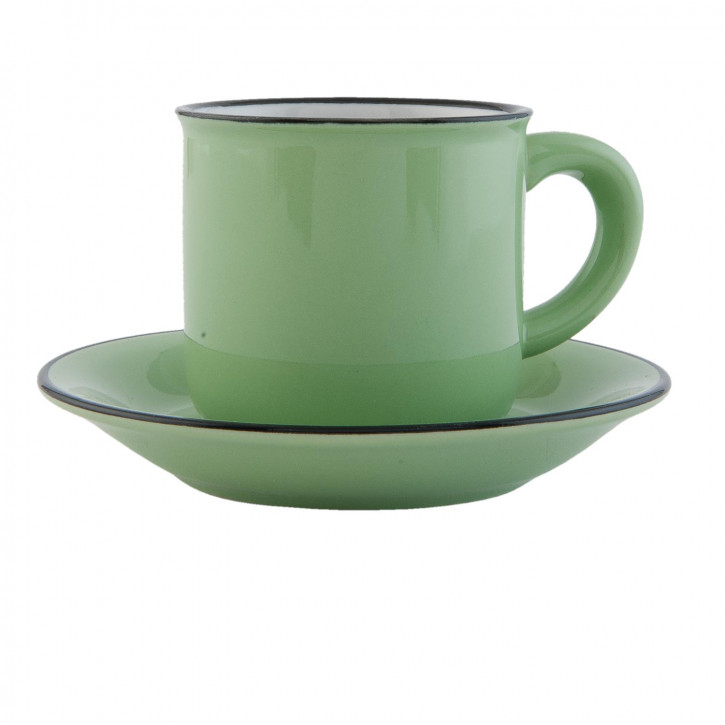 Tasse mit Untertasse Ø 7x7 cm