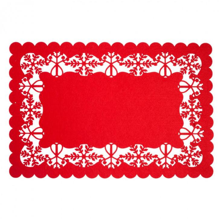 Tischdecke  rot Belfast 45x30 cm
