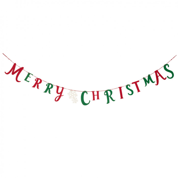 """Girlande Dekoration Weihnachten """"Merry Christmas"""" 150x10 cm"""