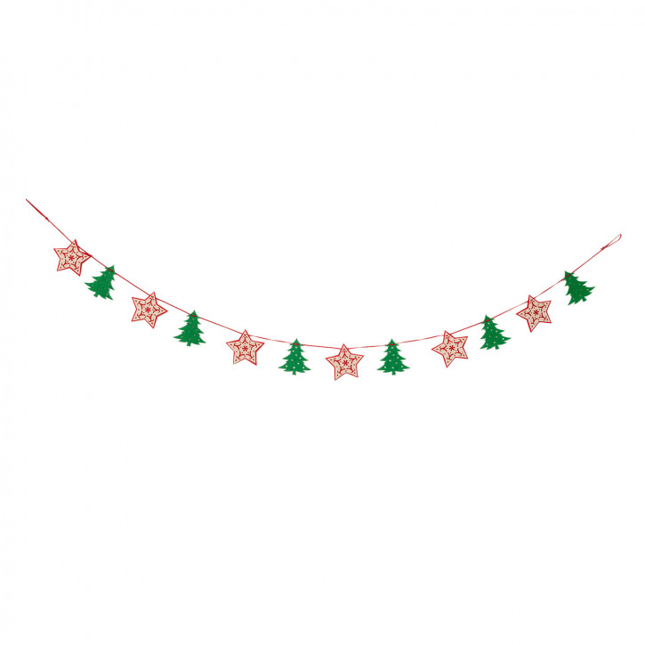 """Girlande Dekoration Weihnachten """"Stars"""" 150x9 cm"""