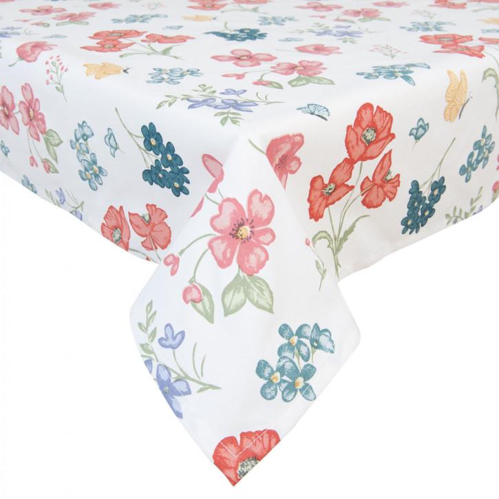 100x100 Tischdecke mit bunten Blumen Field Flowers