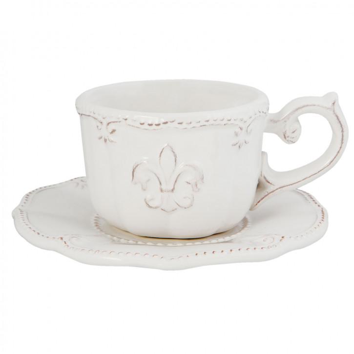 Kaffeetasse mit Untertasse Ø 15x7 cm
