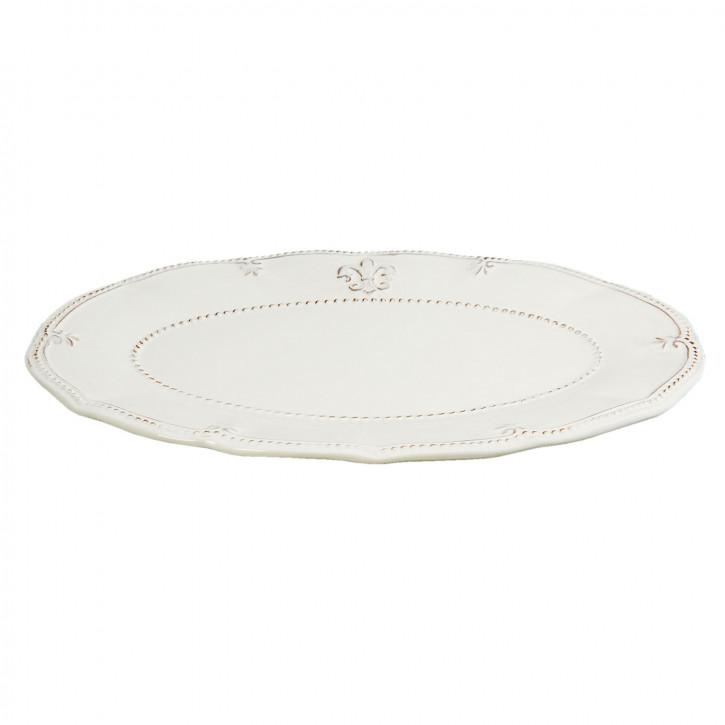 Großer Teller weiß 34x22x2 cm