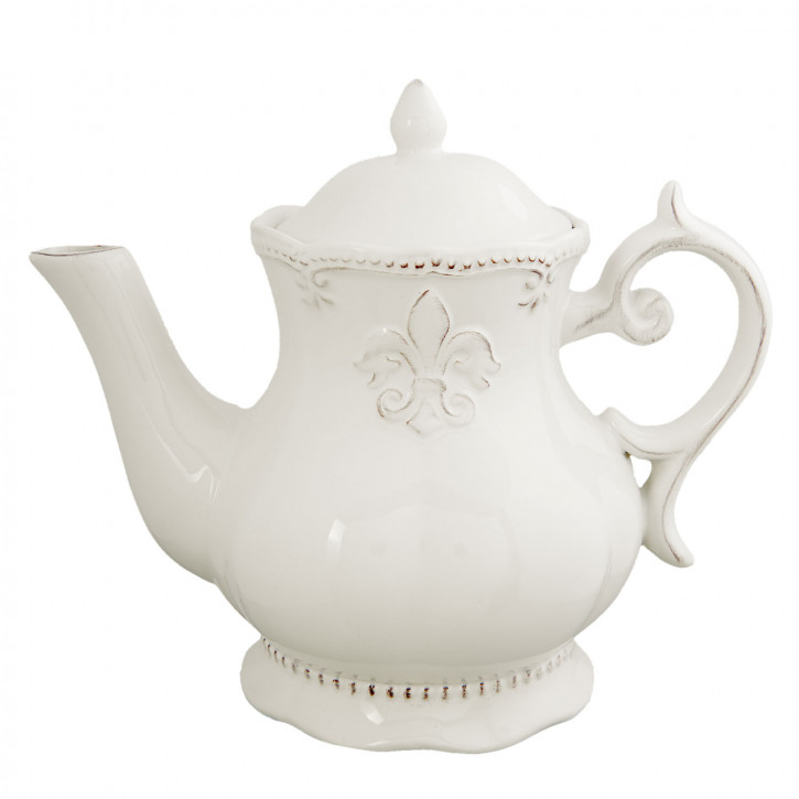 Teekanne weiß 22x14x19 cm
