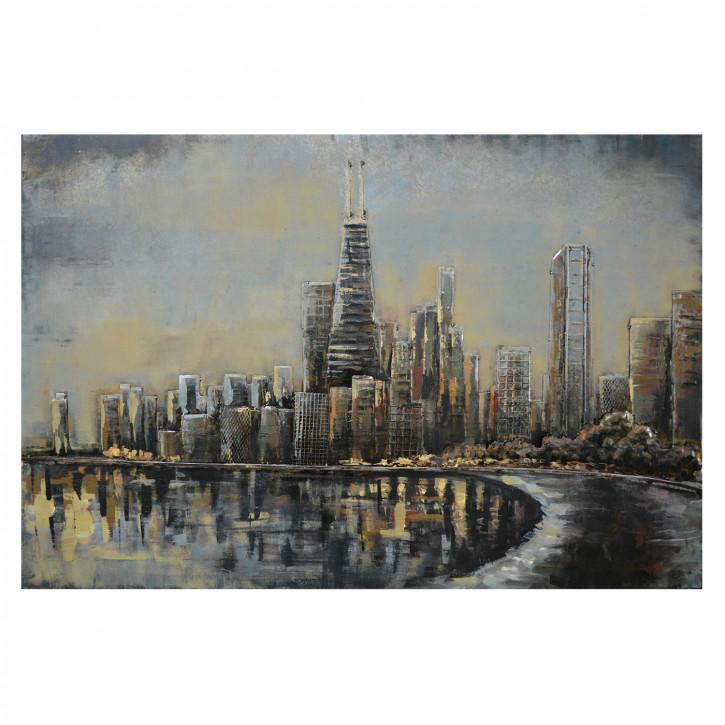 Wand Dekoration Skyline 120x80x4 cm