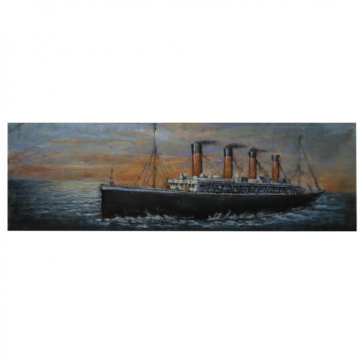 Wand Dekoration (Titanic) 180x56x6 cm