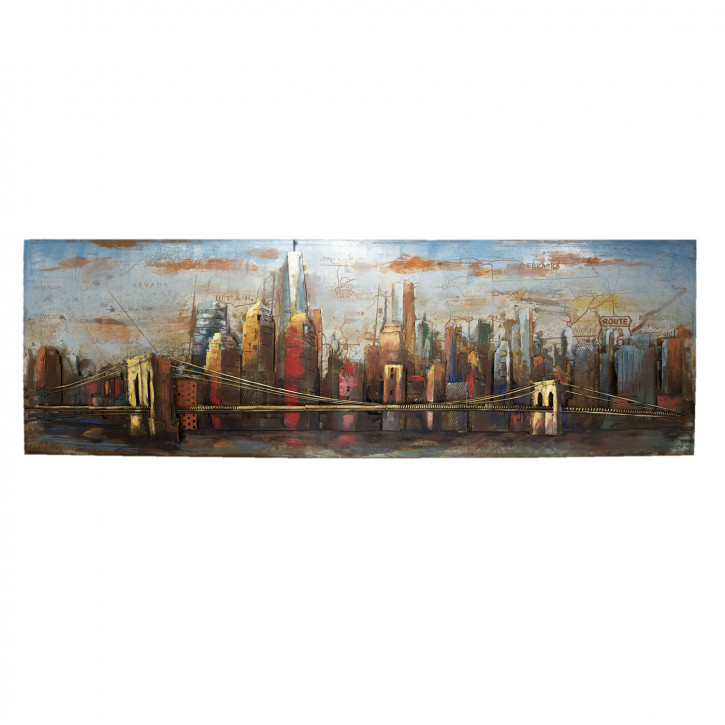 Wand Dekoration (Skyline) 180x60x6.5 cm