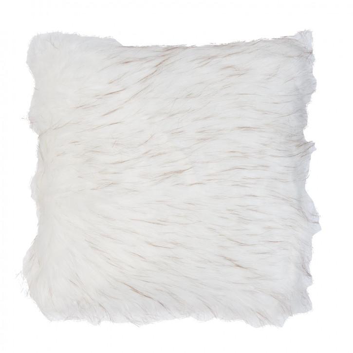 Kissenhülle Felloptik weiß ca. 40 x 40 cm