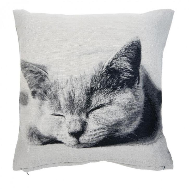 Kissenhülle Katze 45x45