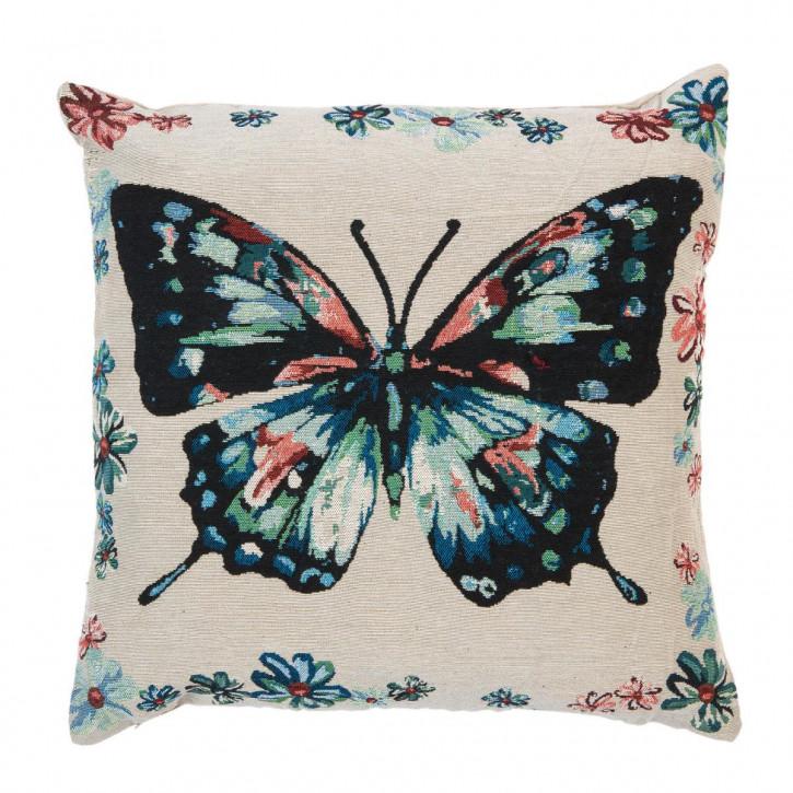 """Kissenhülle """"Schmetterling"""" 45x45"""