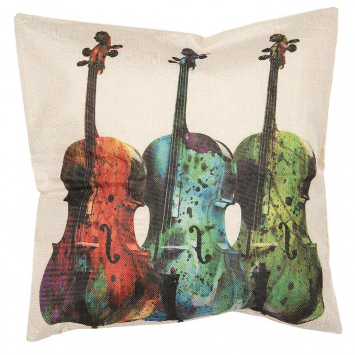 Kissenhülle Violinen 43x43 cm