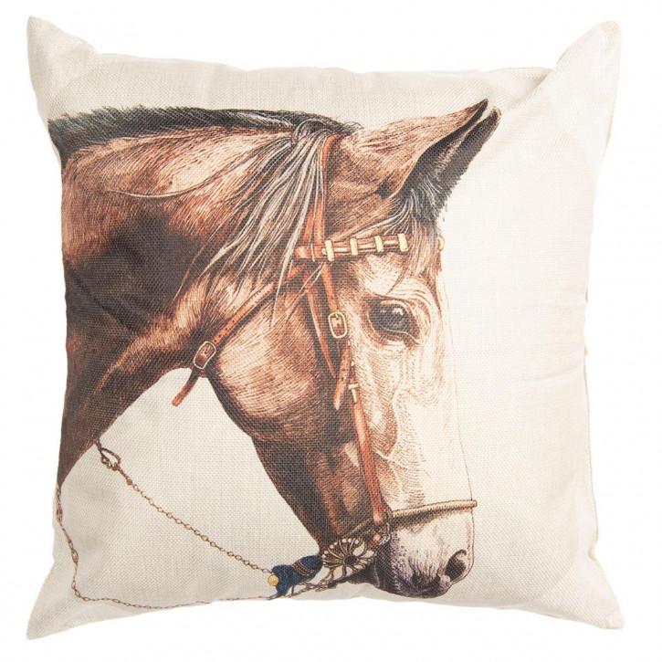 Kissenhülle Pferd 43x43 cm