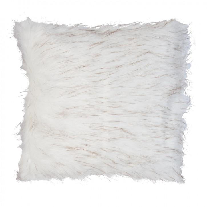 Kissenhülle Felloptik weiß ca. 50 x 50 cm