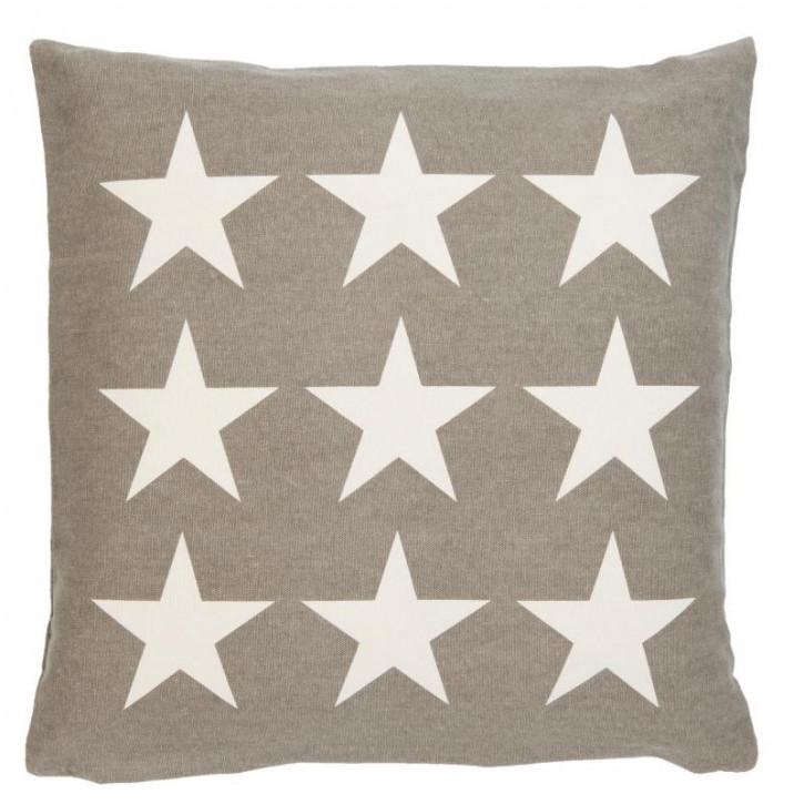 Kissenhülle Sterne grau 50x50