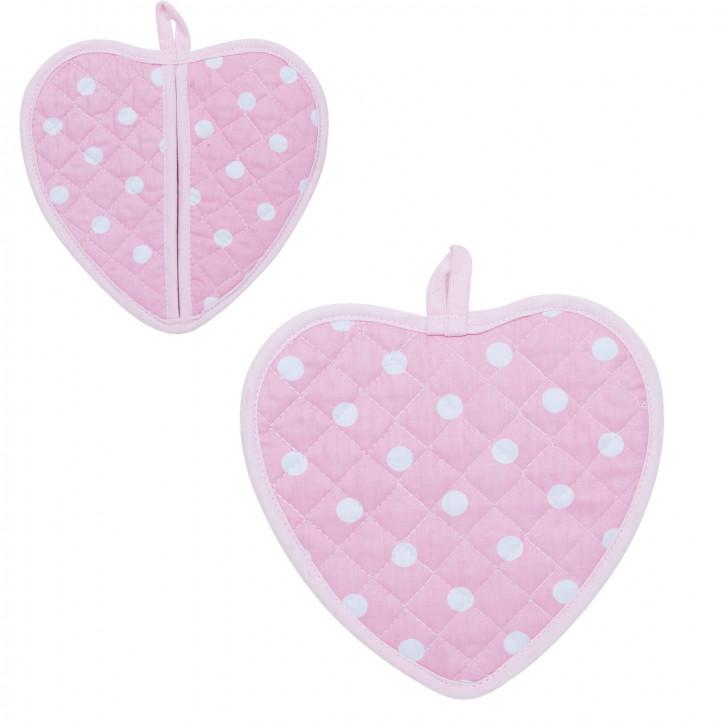 1 Topflappen rosa Herz ca. 17 x 16 cm