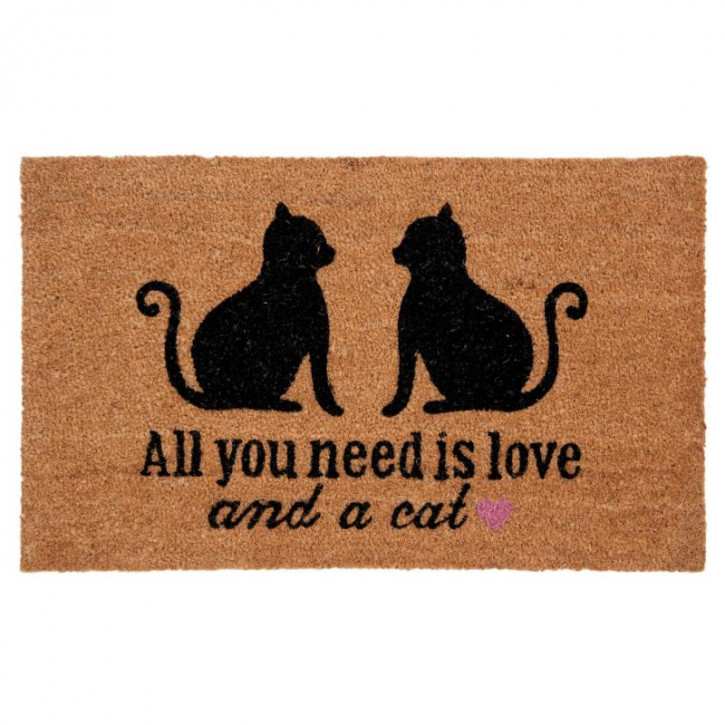 "Türmatte ""All you need is love and a cat"" 75x45 cm"
