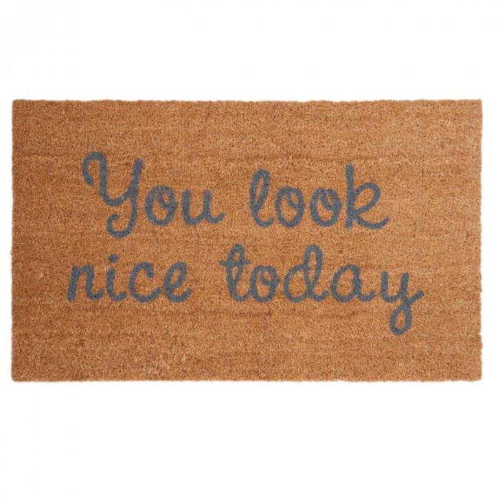 "Türmatte ""You look nice today"" 75x45 cm"