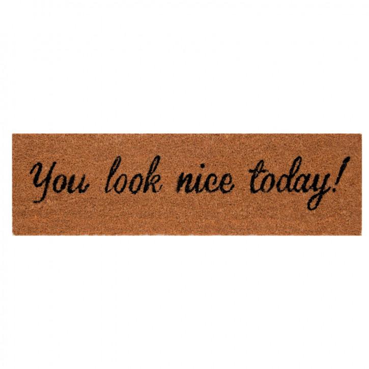 "Türmatte ""You look nice today"" 75x22 cm"