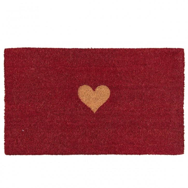 """Fußmatte """"Herz"""" rot 75x45 cm"""