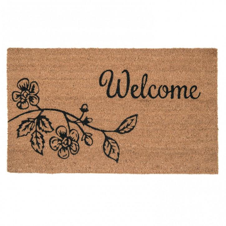 Türmatte Welcome Schrift 75x45 cm