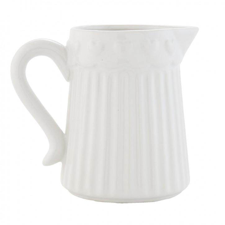 Milchkännchen weiß ca. 13 x 9 x 11 cm
