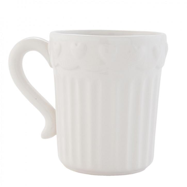 Kaffeetasse weiß ca. 12 x 9 x 10 cm