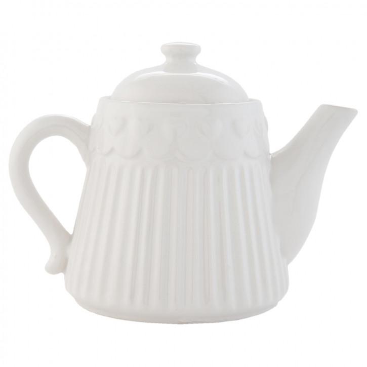 Teekanne weiß ca. 19 x 13 x 14 cm
