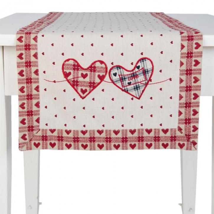 Tischläufer Herzen ca. 85 x 85 cm