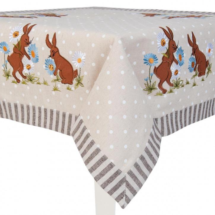 Tischdecke Hasen ca. 85 x 85 cm