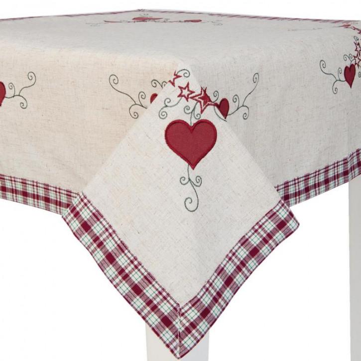 Tischdecke Herzen ca. 85 x 85 cm