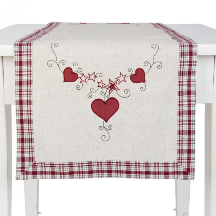 Tischläufer Herzen ca. 40 x 120 cm