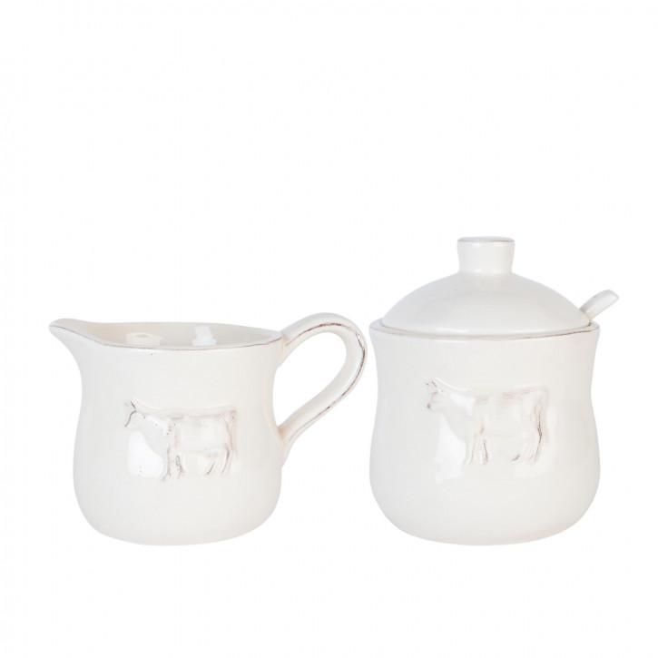 Milchgießer & Zuckerdose 13x9x9 / Ø 9x12 cm / 0.3L / 0.350L