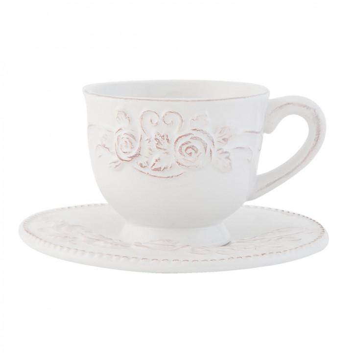Tasse mit Untertasse Ø 15x9 cm