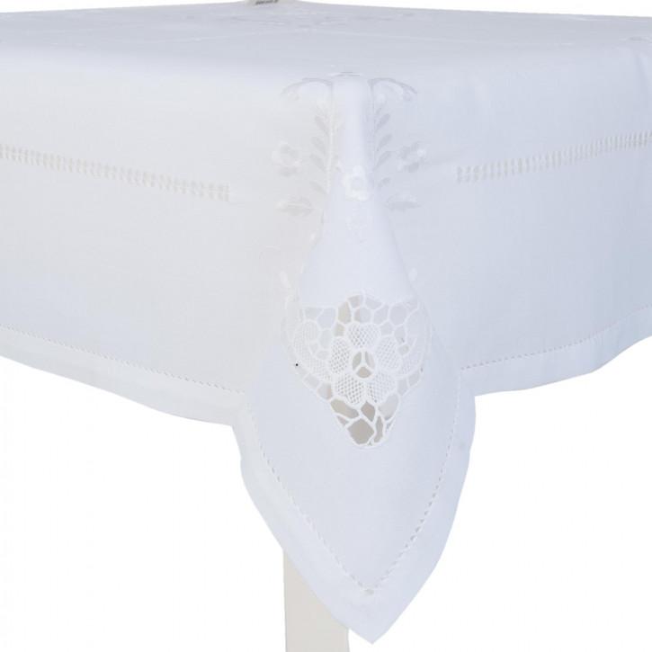 Tischdecke weiß ca. 85 x 85 cm